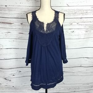 WHBM cold shoulder top size large